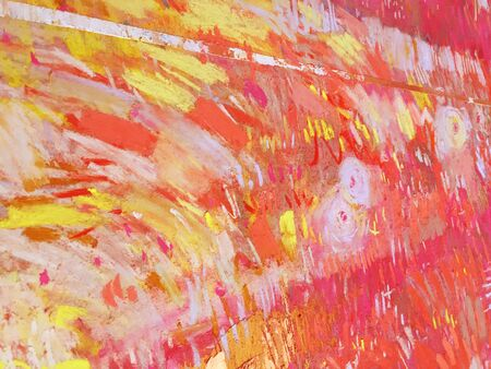 Chinese New Year red background with vivid abstract red textures. Gold brush strokes with artistic dry pastel elements for Christmas card, holiday banner, Xmas design, template poster of Asian cooking Stock Photo