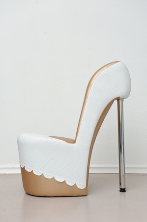 A beautiful and large shoe chair