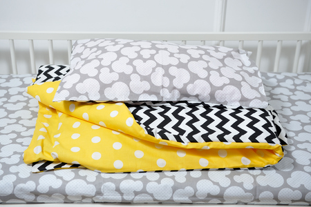 Beautiful childrens bed, different colors Stock Photo
