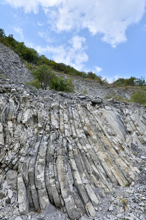 Beautiful structure of the rock, consists of a solid rock in the form of layers