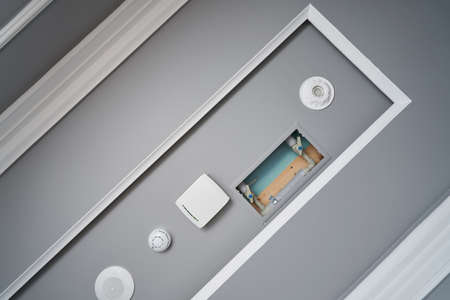 Ceiling built-in communications, fire alarm, loudspeaker,   router and water supply for extinguishing a fire