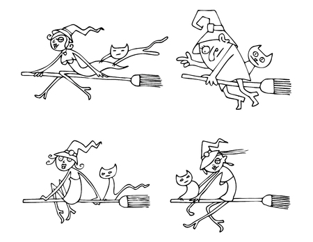 woman floating: Halloween Witches pack