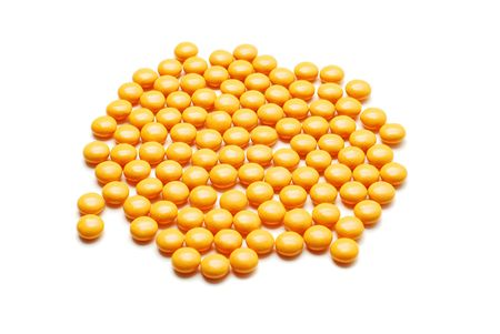 reliever: yellow pills isolated