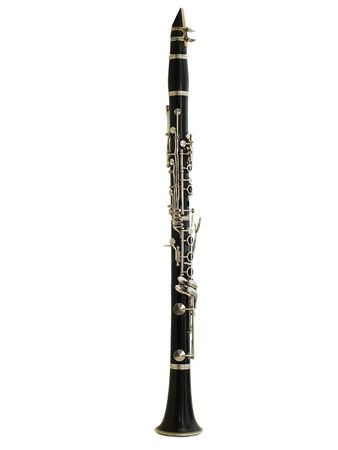 flute instrument: clarinet isolated Stock Photo