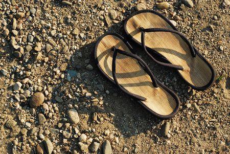 beach slippers photo