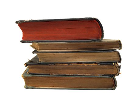 stack of books isolated photo
