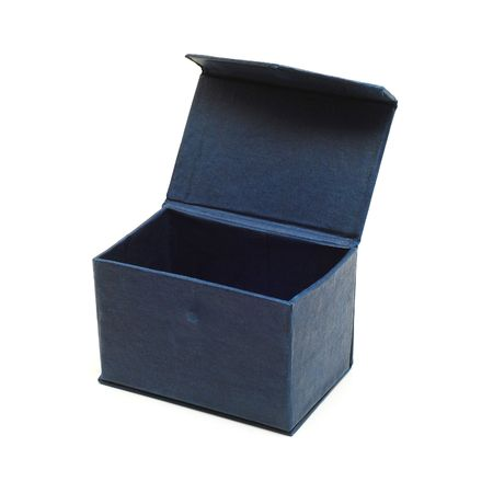 blue cardboard box isolated Stock Photo - 5445004