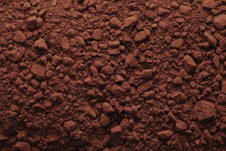 sugar powder: cocoa powder background Stock Photo