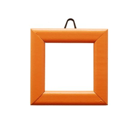 empty orange frame isolated photo