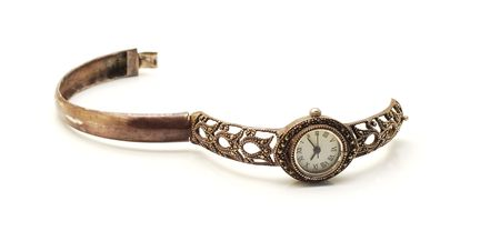 silver watch isolated Stock Photo - 5827211