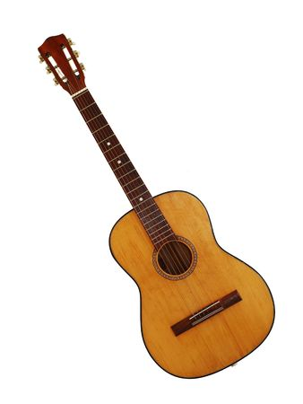 classic guitar isolated Stock Photo