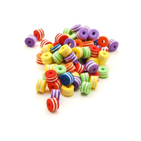 colored beads isolated Stock Photo - 5979619
