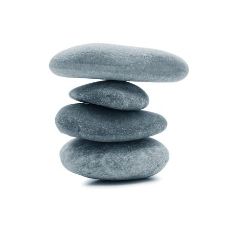 river stones: zen stones Stock Photo