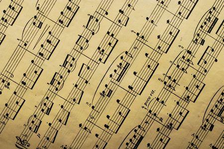 classical music: muziek papier blad Stockfoto