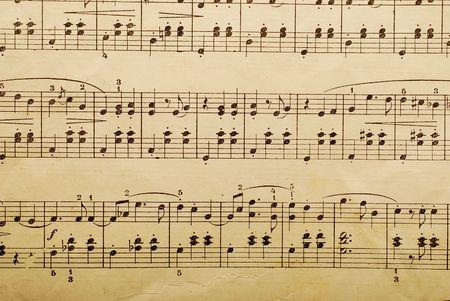 orquesta clasica: hoja de papel de m�sica