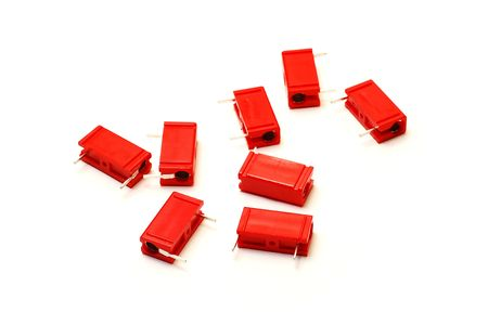 Capacitors: red capacitors