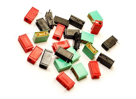 Capacitors: capacitors Stock Photo