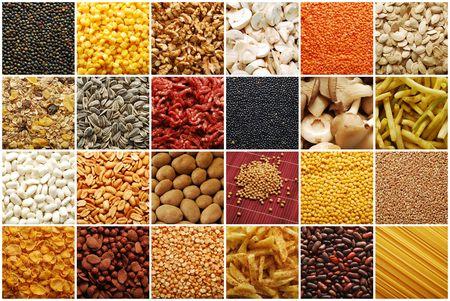cereales: colecci�n de ingredientes de alimentos  Foto de archivo