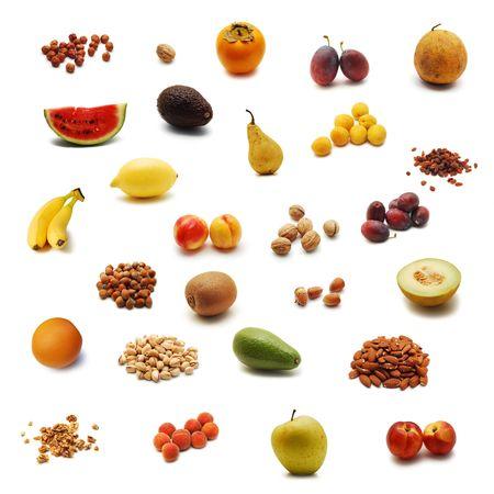 aguacate: montaje de frutas  Foto de archivo