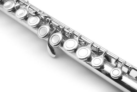 woodwind instrument: flute detail Stock Photo