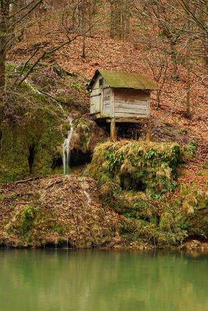 molino de agua: Molino de agua tradicional Foto de archivo