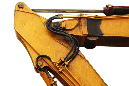 backhoe: excavator arm