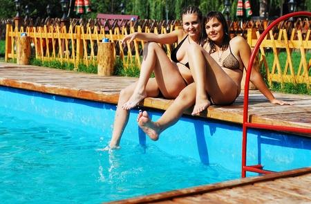 bikini girls Stock Photo