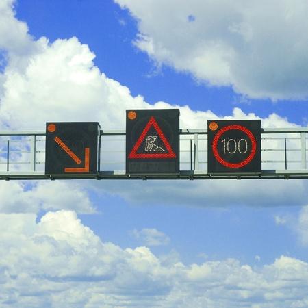 highway led warnings photo