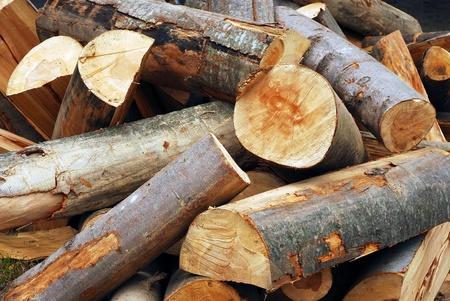 bûches de bois Banque d'images
