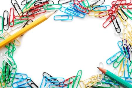 paper clips  border Stock Photo - 10121505