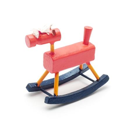 wood figurine: balanc�n caballo juguete