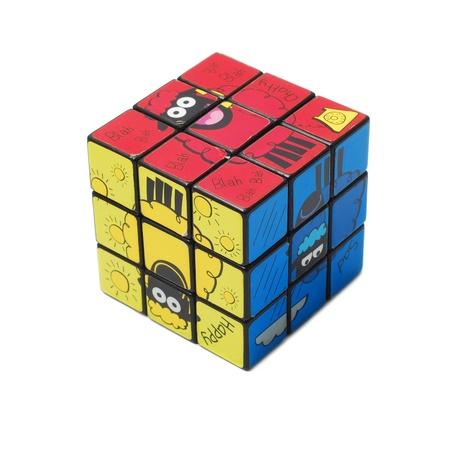 rubik: rubik cube isolated on white