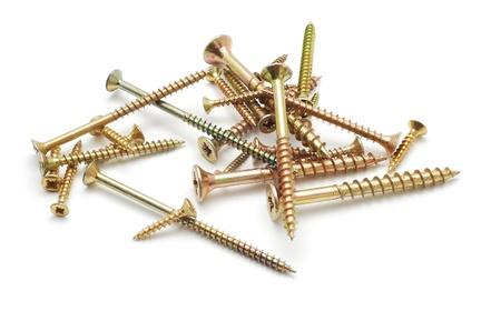 tornillos: tornillos para madera Foto de archivo