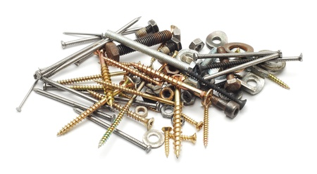nuts, bolts, nails and screws Stock Photo - 10626599