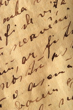 old writing:  old writing