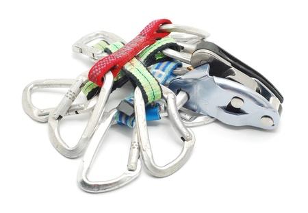carabiner: climbing gear  Stock Photo