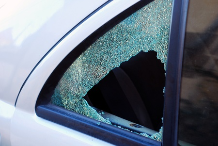 car glass:  car theft