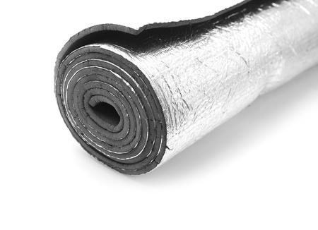 foil roll:  sleeping mat  Stock Photo