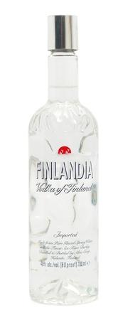 Caransebes, Romania, October, 21st, 2011 - Bottle of Finlandia vodka isolated on white Stock Photo - 10938581