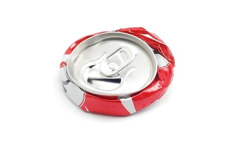 smashed soda can   photo