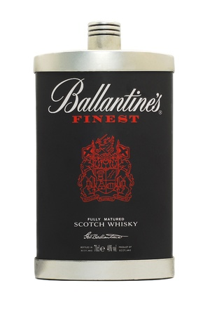 ballantine's limited edition whisky bottle isolated on white Stock Photo - 11379662