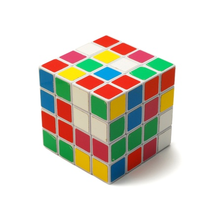Caransebes, Romania, March, 24th, 2011 - Rubiks cube isolated on white