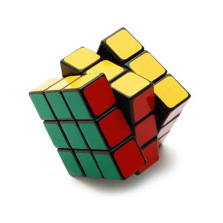 Caransebes, Romania, March, 11th, 2009 - Rubik's cube isolated on white Stock Photo - 11581011