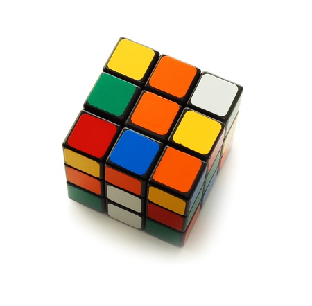 rubik: Caransebes, Romania, March, 11th, 2009 - Rubiks cube isolated on white Editorial