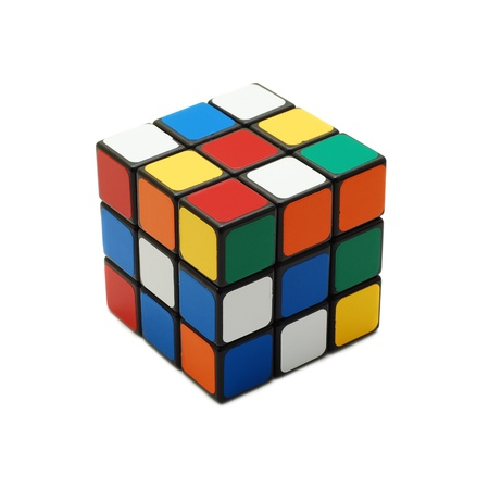 Caransebes, Romania, March, 11th, 2009 - Rubik's cube isolated on white