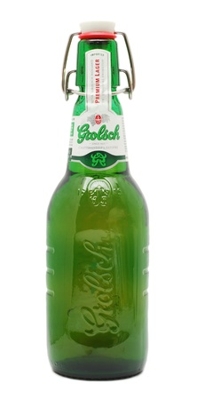 Caransebes, Romania, December, 30th, 2011 - Grolsch beer bottle isolated on white