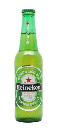Caransebes, Romania, December, 29th, 2011 - Heineken beer bottle isolated on white Stock Photo - 11728490