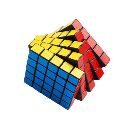 Caransebes, Romania, December, 22nd, 2011 - Rubik cube (solved) isolated on white background