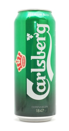 carlsberg: Caransebes, Romania, November, 17th, 2011 - Carlsberg beer can isolated on white