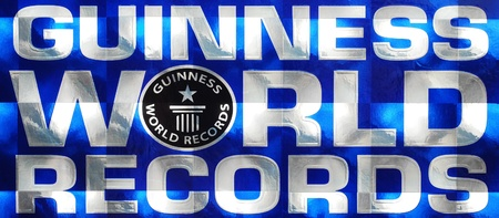 Caransebes, Romania, December, 25th, 2010 - Guinness World Records logo